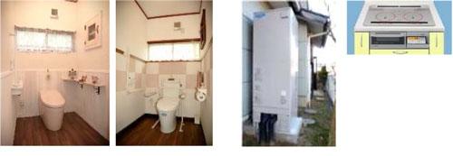 トイレ2ヶ所改装工事と電化リフォーム工事